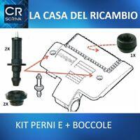 KIT PERNI + BOCCOLE SCATOLA FILTRO ARIA BOX CASSA COPRI MOTORE FIAT 1.3 MJET