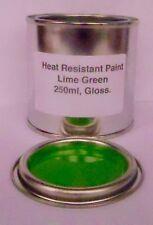 250ml Lime Green Gloss Heat Resistant Paint Engine Caliper Brake Metal Steel