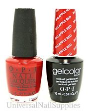 "Opi Soak-Off GelColor Gel Polish + Nail Polish ""Big Apple Red"" .5 oz"