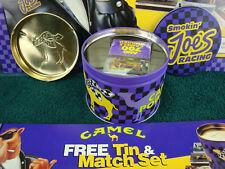 Vintage 94 JOE CAMEL Smokin' Joe's Racing MATCHBOX TIN w ASHTRAY. NEW / Old Stck