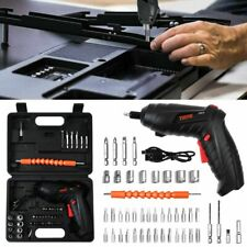 45pc Cordless Electric Screwdriver Rechargeable Drill Kit Power Tool Battery Bit