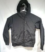 Columbia Womens Snow Jacket Coat Black Hooded Faux Fur Waterproof Winter Warm L