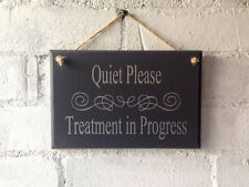 Treatment in Progress door sign, salon. Beauty, holistic treatment notice. shop