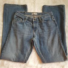 AMERICAN EAGLE FAVORITE FIT DISTRESSED  WASH COTTON DENIM FLARE JEANS SIZE 4 REG