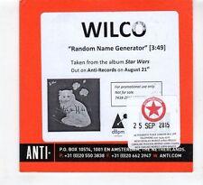 (HD844) Wilco, Random Name Generator - 2015 DJ CD