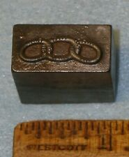 Antique Master Hob ODD FELLOWS 3 RINGS for Badge Stamping Die * MC Lilley
