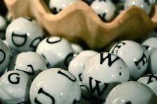 50 SMALL SIZE Ceramic letter bingo glass alphabet balls***free shipping**