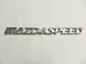 MazdaSpeed Emblem Badge sticker Mazda6 626 Mazdaspeed Miata trunk Capella JDM