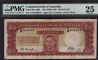 Australia R-60.(1942) 10 Pound -COOMBS/WATT. Commonwealth Bank PMG VF 25