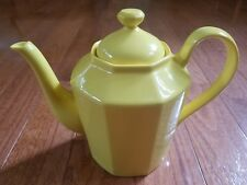 "FITZ & FLOYD ""TOTAL COLOR"" YELLOW FINE CHINA COFFEE TEA POT pre-owned EXCELLENT!"