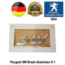 Peugeot SW Break Embleme Abzeichen Badge 405 406 407 Originalteil X 1 Neu Chrom