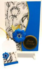 Handmade Birthday Card: Jewel Rose (Sapphire)