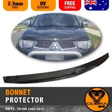 Mitsubishi Triton MN ML Bonnet Protector 2006-2014 Tinted Guard Black