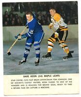 1964-65 Toronto Star Dave Keon Card Toronto Maple Leafs