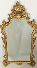 Antique Estate Gold Gilt Large Ornate Carved Wood Wall Hanging Mirror