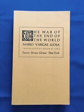 THE WAR OF THE END OF THE WORLD - UNCORRECTED PROOF SIGNED BY MARIO VARGAS LLOSA