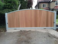 CANTILEVER ELECTRIC SLIDING GATE AUTOMATED WESTERN RED CEDAR BOARD 4.5m x 5ft