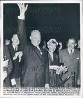 1952 President General Dwight & Mamie Eisenhower w Thomas Dewey Press Photo