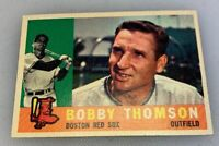 1960 Topps # 153 Bobby Thomson Boston Red Sox Baseball Card