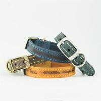 Dog Collars   Ancol Personalised Dog Puppy Collar Timberwolf Leather Leads Leash