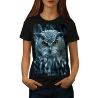 Wellcoda Wild Looking Owl Womens T-shirt, Mother Casual Design Printed Tee