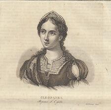 Cleopatra 1845  incisione su rame