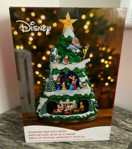 "DISNEY 17.5"" ANIMATED CHRISTMAS TREE WITH LED LIGHTS AND MUSIC **NEW**"