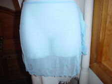 Playboy Sheer Swim Sarong One/Size Light Blue NWT
