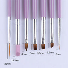 7* Nail Brush Set Paint Liner UV Gel Gradient Acrylic Pen Salon Manicure Supply