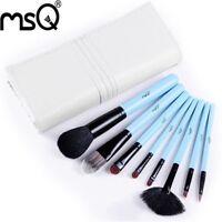 MSQ 8PCS Hot Sale Make Up Brush Set PU Bag Professional Makeup Brushes 3 Colors