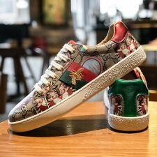Men's Embroidery Shoes Khaki Fashion Luxury Men's Sneakers Comfort Men Mirrors
