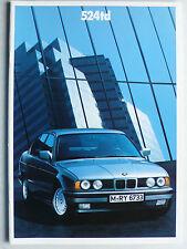 Prospekt BMW 5er E 34 (524TD), 2.1990, 34 Seiten