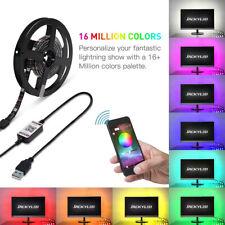 2M RGB Waterproof LED Strip Light 12V US Power Full Kit BT Color Changing D4R4