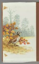 "QUAIL IN FOREST 5x7.25"" #7914 Thanksgiving Greeting Card Art"