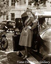 Red Cross Motorcorps Nurse - WWI - 1917 - Historic Photo Print