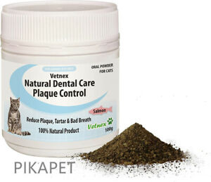 Vetnex Plaque Control Natural Dental Care Powder Salmon For Cats 100g Sale