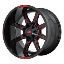 """4-Moto Metal MO970 Gloss Blk Milled With Red Tint 20x9"""" Ford F250 Rims 8x170 +0"""