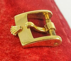 AUTHENTIC ROLEX GOLD PLATED PLAQUE WRISTWATCH TANG BUCKLE PART ONLY (USED)