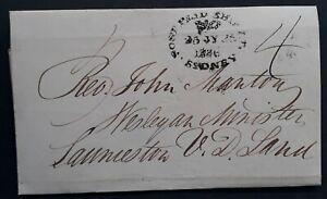 1836 NSW Australia Post Paid Ship Letter Cover to John Manton, Launceston