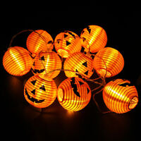 Halloween Decor Pumpkin Jack O Lantern Fairy String Light Lamp Party Home Props