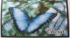 BLUE BUTTERFLY CHECKBOOK COVER  PERSONALIZED WITH NAME