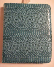 """NWT APT 9 Aqua Turquoise Snakeskin Tablet Cover Case Fits 9"""" x 7"""", $40"""