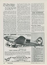1948 United Services for Air Ad USair C-46 Cargoliner NC Airplane Aviation