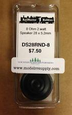 Railmaster Hobbies DS28RND-8 28mm Round HQ Speaker 8 Ohm       MODELRRSUPPLY-com
