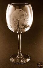Etched Giant Schnauzer on Large Elegant Wine Glasses - Set of 2