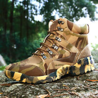 Men's Camo Tactical military Boots SWAT Outdoor Hunting Camping Waterproof shoes