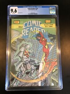 The Comic Reader #215 CGC 9.6 Black Suit Spiderman Concept Venom