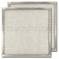 """2-PACK Aluminum Range Hood Filter - 8 15/16"""" X 8 15/16"""" X 3/8"""" Made in the USA"""
