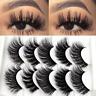 5Pairs 3D Natural False Eyelashes Long Thick Mixed Fake Eye Lashes Mink Makeup