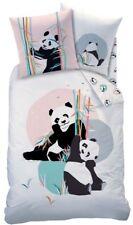 CTI Bettwäsche Pandi Panda Bär 135x200cm 80x80cm  Baumwolle